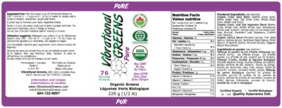 Vibrational Greens Pure Label