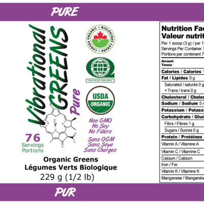 Vibrational Greens Pure Label