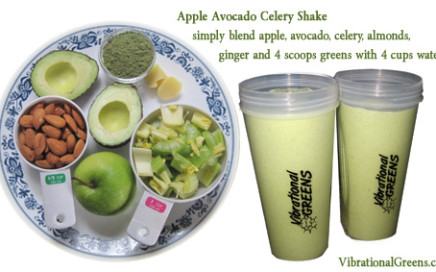Apple Avocado Celery Shake
