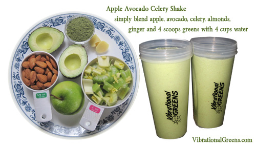 Apple Avocado Celery Shake