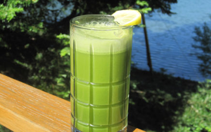 Enjoy your Vibrational Greens Apple Lemon Ginger Drink