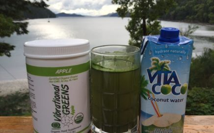 Coconut Water with Vibrational Greens