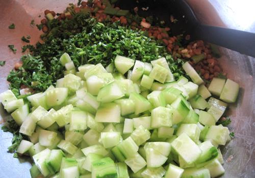 Lentil Parsley Cucumber