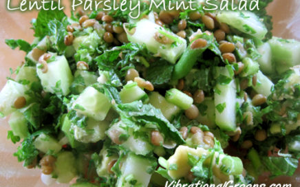 Lentil Parsley Mint Salad