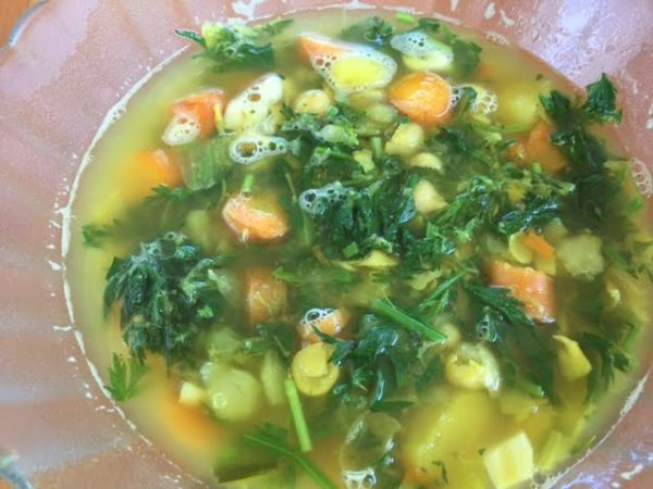 Carrot Greens Soup