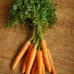 Carrots with carrot greens
