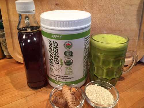 Vibrational Greens Golden Milk ingredients