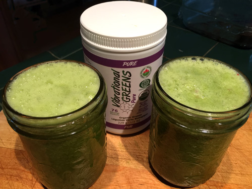 Apple Celery Drink with Vibrational Greens Pure